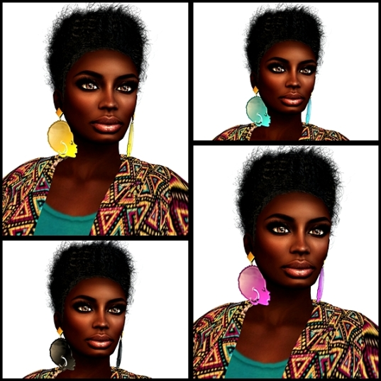 [f]oil afro earrings