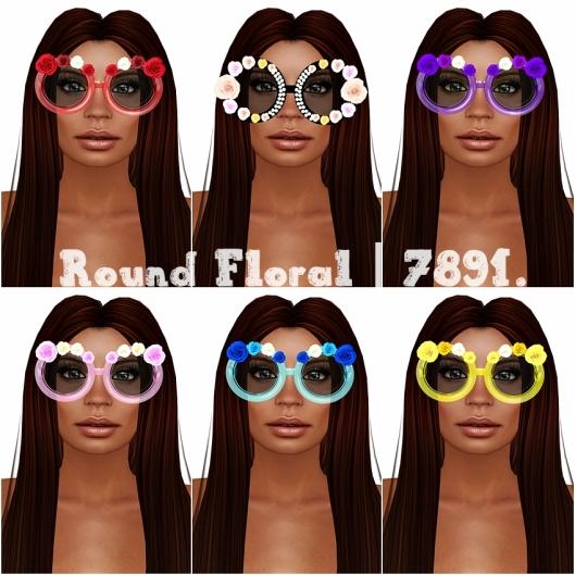 7891 round floral