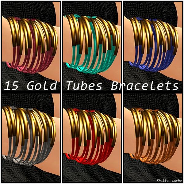 foil gold tubes