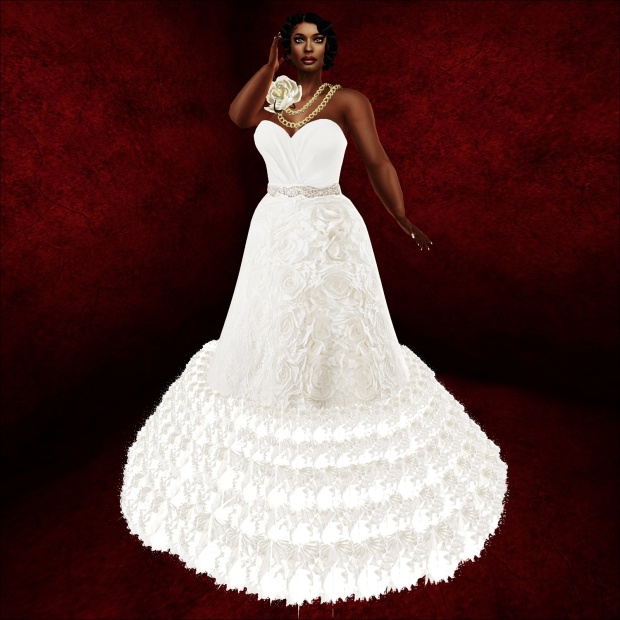 meg rosette gown