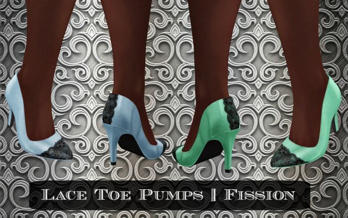 lace toe pumps